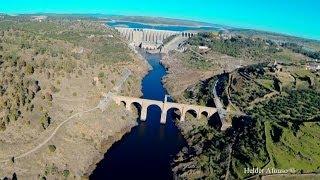 Alcántara Roman Bridge over Tagus river flight - Cáceres - S…