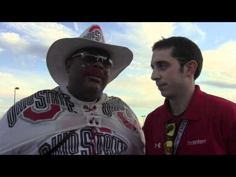 Ohio State pep rally before Gator Bowl with Archie Griffin, president Gee and Buck-I-Guy