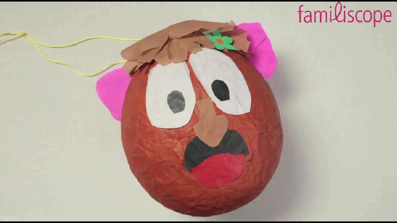 Fabriquer Une Pinata Facile Et Rapide diy tuto : fabriquer une pinata en forme mr potato.
