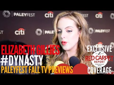 Elizabeth Gillies #Dynasty interviewed at The CW series 'Dynasty' preview at PaleyFest
