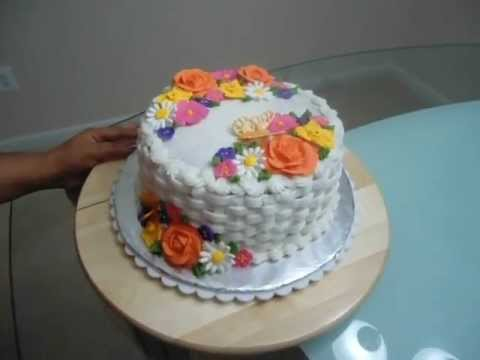 Cake Decorating Course Albury Wodonga : Wilton course 2 (Flowers & Cake design ) - YouTube