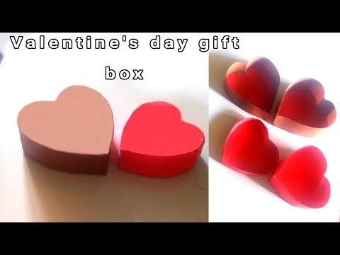 making valentines day gift box / how to make heart symbol gift box craft / paper crafts all