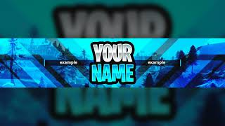 NEW FREE FORTNITE GFX YOUTUBE BANNER TEMPLATE 2018! - (Fortnite Banner Template PSD)