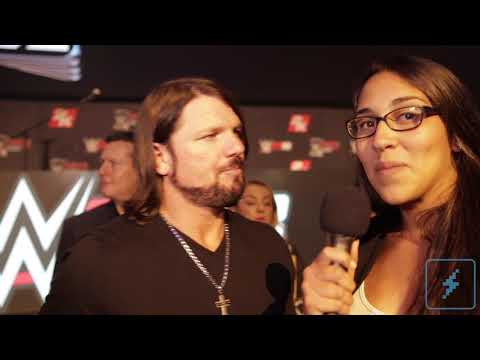 A.J. Styles Scoffs At His In-Game Rating in WWE 2K18 | DualShockers Interview