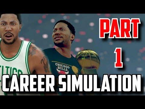 SIMULATING DERRICK ROSE'S NBA CAREER IN NBA2K17!!(2008-2026) PART 1!!!