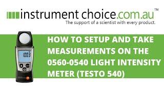 How to Setup and Take Measurem…