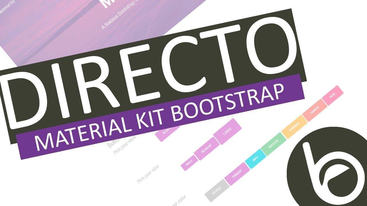 Material Kit para Bootstrap! Hermoso y desconocido 😍