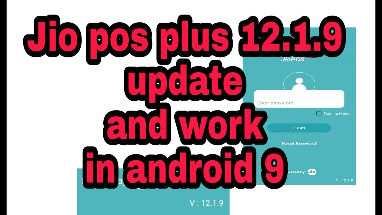 Jio pos plus 12 1 9 update (working on android 9) by Pcdroid