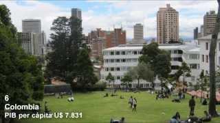 Paises Con Mas Alto Ingreso Per Cápita  2014 Sudamérica