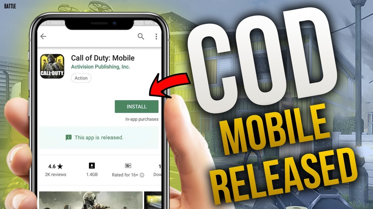 CALL OF DUTY MOBILE IS NOW RELEASED! (Gameplay)