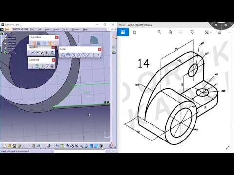 Catia Online Video Eğitim - 8 Distance /Length /Angle /Fix /Parallelisim /Perpendicular #drkacademy from YouTube · Duration:  15 minutes 14 seconds