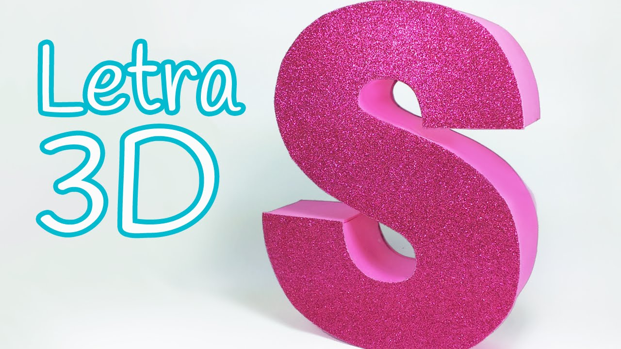 Manualidades letras en 3d para decorar tu cuarto innova - Letras para adornar ...