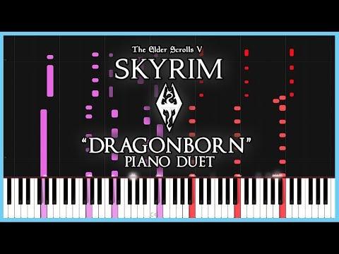 Skyrim - Main Theme PIANO DUET [Synthesia] thumbnail