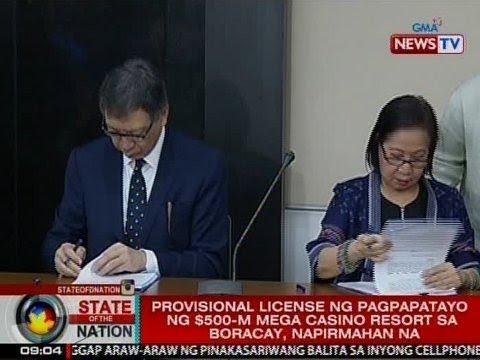 SONA: Provisional license sa pagpapatayo ng $500-M casino sa Boracay, napirmahan na