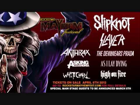 Rockstar Energy Drink Mayhem Festival 2012 BAND LINE UP!