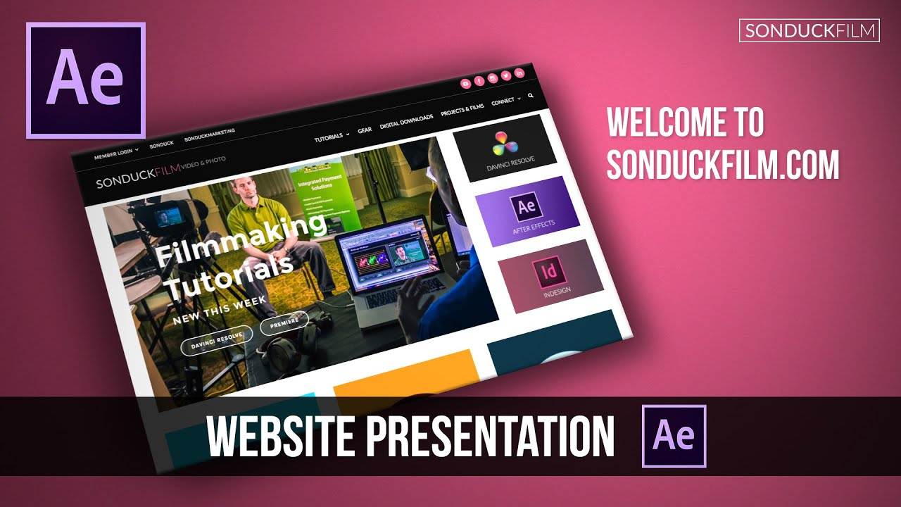 after effects tutorial: clean 3d website presentation - youtube, Presentation templates