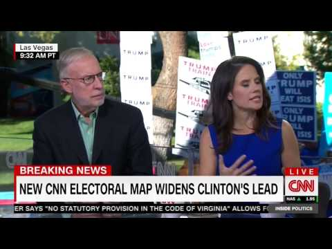 Crowd chants 'lock her up' while CNN tries to talk