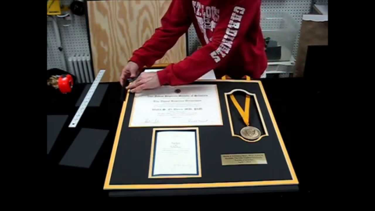 Buy Custom Certificate and Diploma Frames Online - YouTube