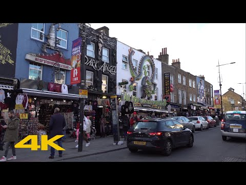 London Walk: Camden Town【4K】
