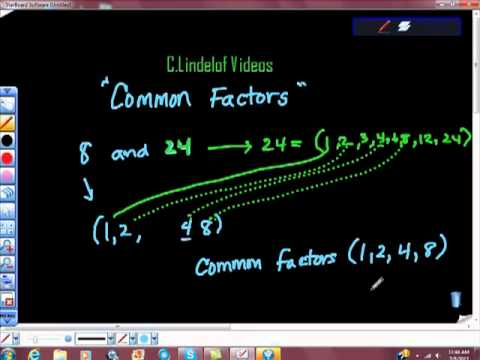 Finding Common Factors of Two Numbers