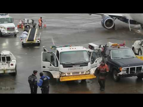 Frontier Fire on Ramp at Seattle/Tacoma International Airport