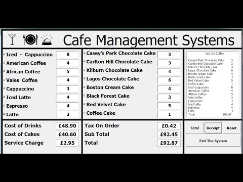 How to Create Cafe Management Systems Using VBA in Excel - Full Tutorial