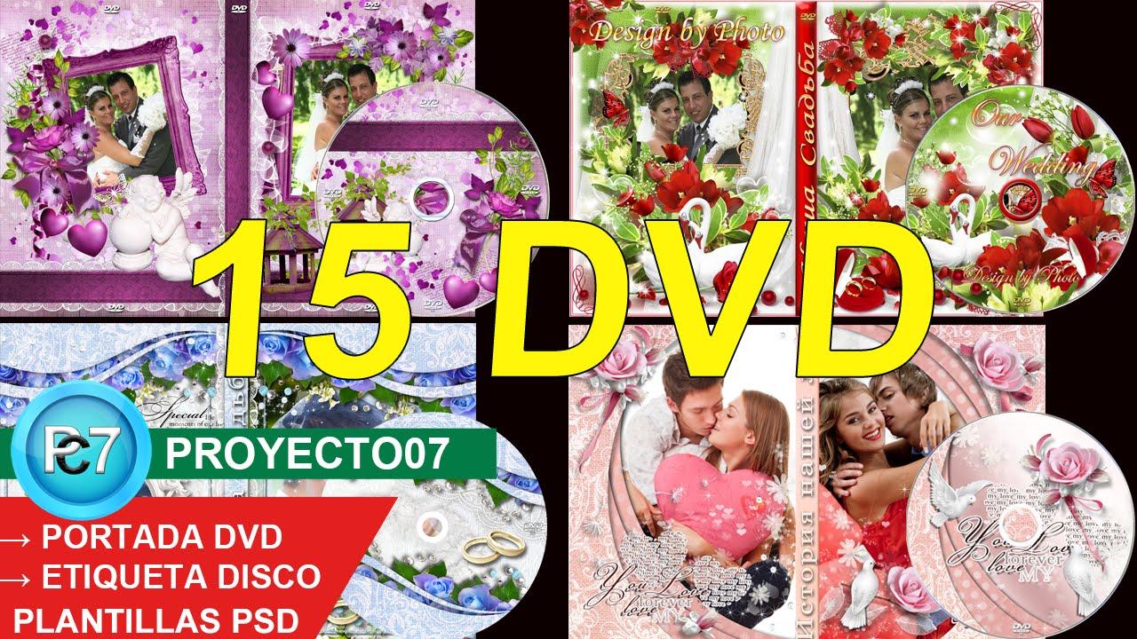 15 Dvd BODAS capas editables [PORTADA y ETIQUETA] photoshop CC 2016 ...