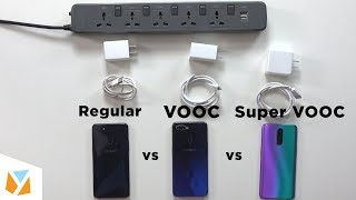 Super VOOC vs VOOC vs Regular Charging: OPPO's fast charging evolution