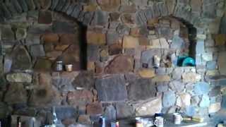 postup výstavby velkého kamenněho sklepa