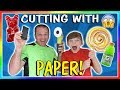 WHAT DID WE CUT WITH PAPER? | We Are The Davises