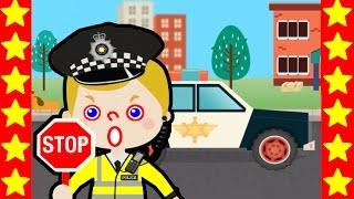 Мультики для детей. Патрулируем дорогу с полицейским. Мультфильмы про полицию. Полицейские машины.