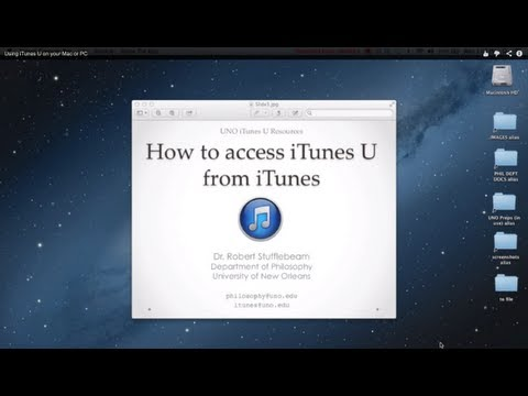 Using iTunes U on your Mac or PC
