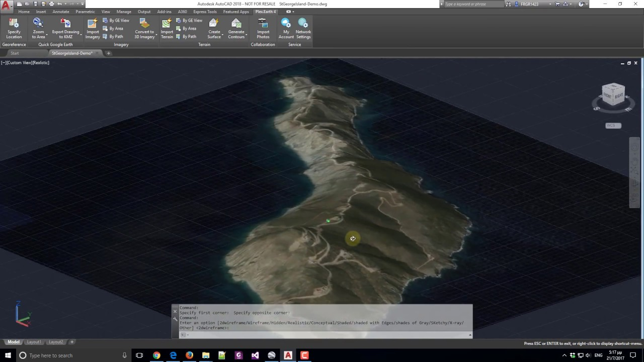 Plexearth 4 import 3d terrain and google earth imagery into earth 4 import 3d terrain and google earth imagery into autocad gumiabroncs Gallery