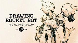 Drawing Rocket Bot e001