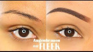 UPDATE Augenbrauen - Dünne & ölige Augenbrauen schminken | littlebeautyguru