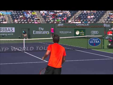 Amazing 360 flick shot - Philipp Kohlschreiber v Andy Murray 2015 Indian Wells