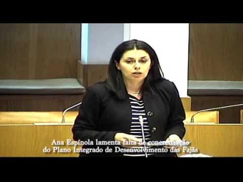 Ana Esp�nola lamenta falta de concretiza��o do Plano Integrado de Desenvolvimento das Faj�s da ilha de S�o Jorge