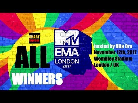 EMA's 2017 - ALL WINNERS | MTV Europe Music Awards 2017 | August 12, 2017