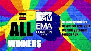 EMA's 2017 - ALL WINNERS | MTV Europe Music Awards 2017 | August 12, 2017