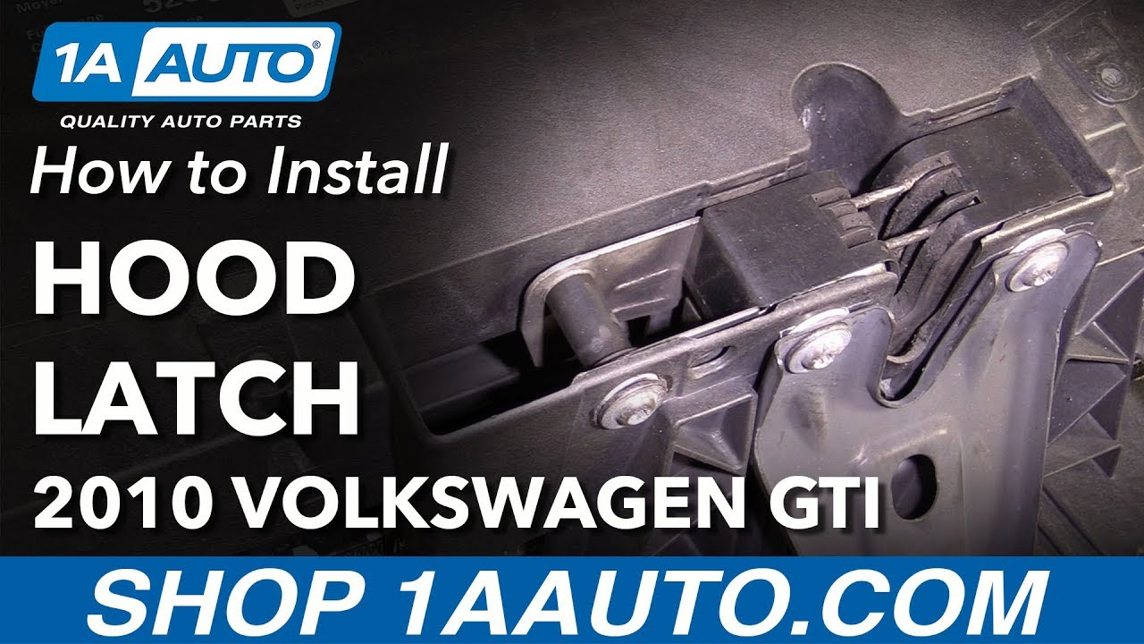 2011 Jetta Fuse Diagram Marker Light How To Remove Replace Hood Latch 2010 Volkswagen Gti Youtube