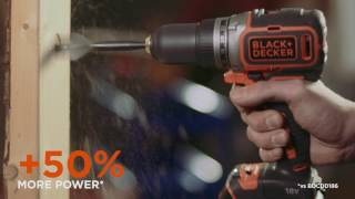 BLACK+DECKER 18V Lithium-ion Drill Driver with Brushless Motor Technology