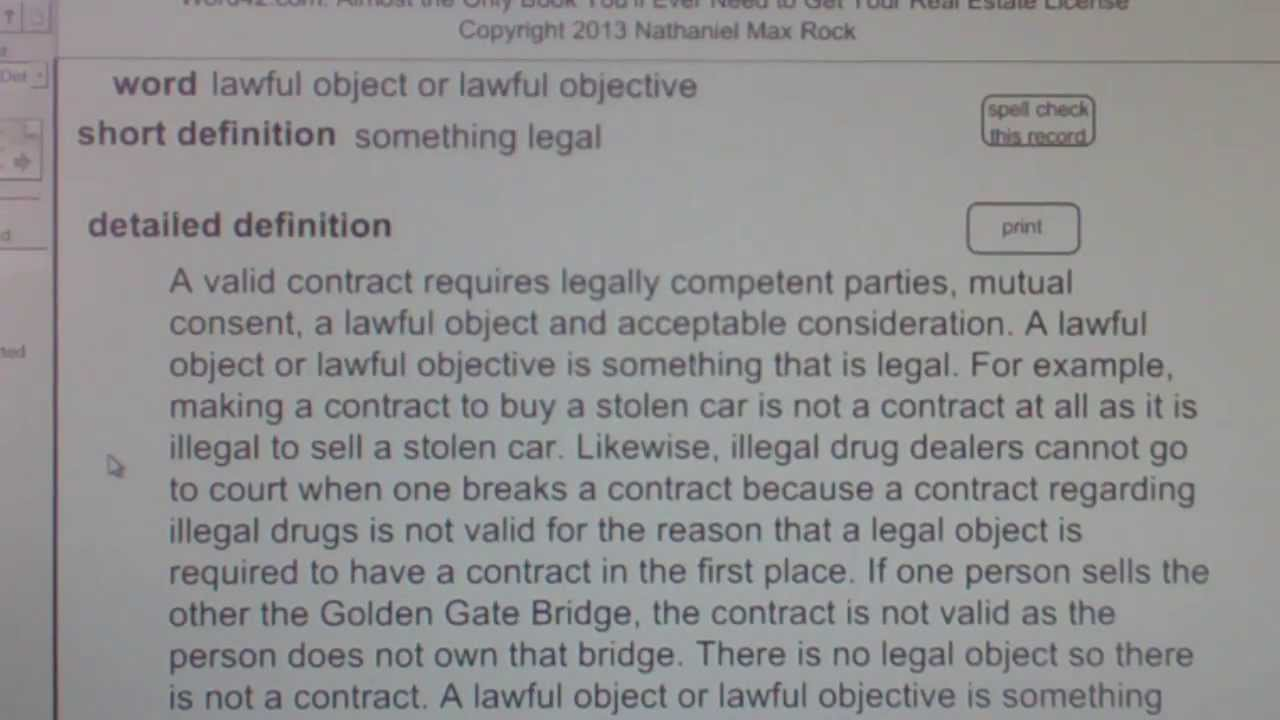 lawful object example