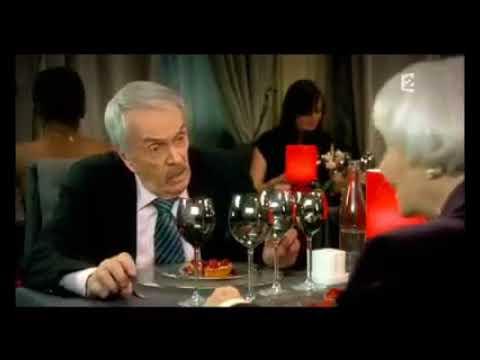 """Scène avec Robert Hirsch et Gisèle Casadesus dans """"le Grand Restaurant"""""""