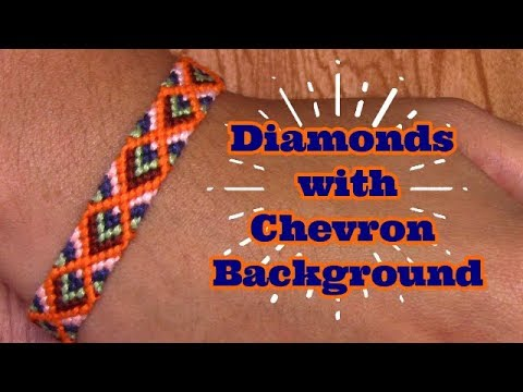 Friendship Bracelets: Diamonds With Chevron Background (inte