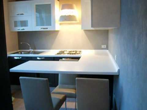 Grey oak U-peninsula kitchen - YouTube