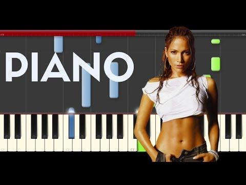 Jennifer Lopez Olvidame y Pega la Vuelta piano midi   Pimpinela sheet partitura cover karaoke