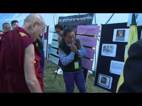 H H the Dalai Lama's Visit to TCV Gopalpur