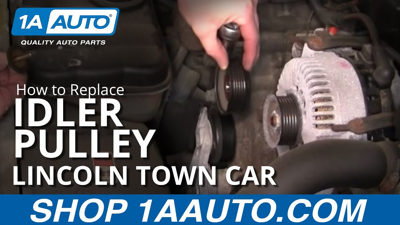 how to install repair replace engine belt idler pulley lincoln how to install repair replace engine belt idler pulley lincoln town car 4 6l 1998 02 1aauto com