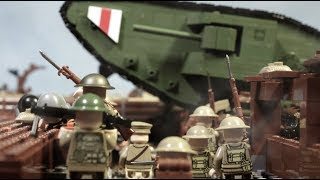 LEGO WW1 battle of the Somme (Tank attack) lego stop motion. Part 2.