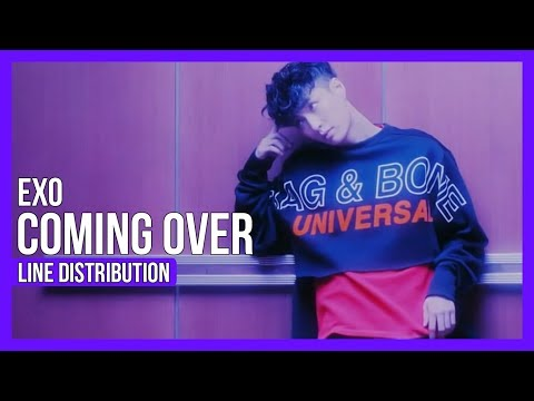 EXO - Coming Over Line Distribution (Color Coded)